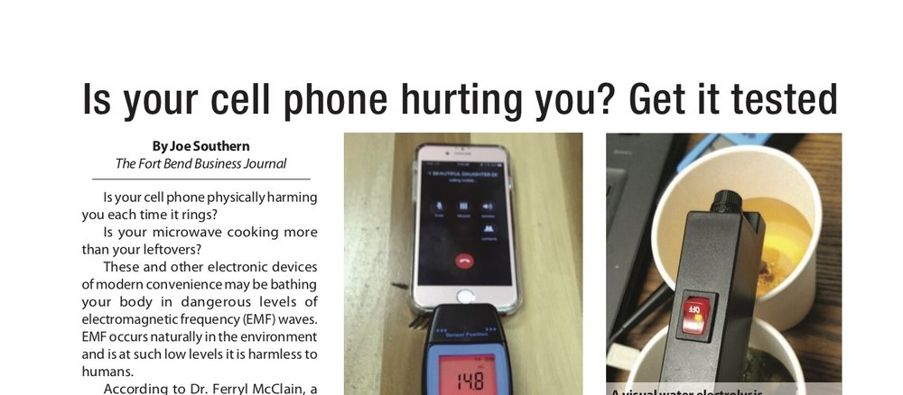 Is your cell phone hurting you? Get it tested